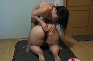 Natasha humps large arse Irene!