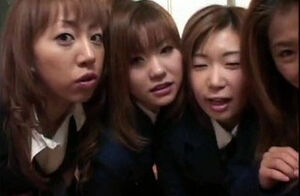 4 asian college girls challenge for..