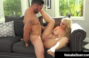 Jizm enjoying natalia starr showered..