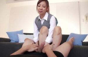 Mio Yoshida - Office Female Footjob