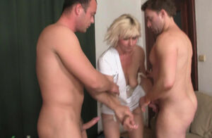 Insane blondie older mature girl dp