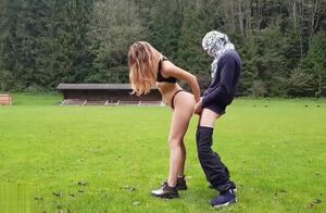 Pummeling her on the Football Realm..