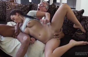 Daddy4k. greyhaired aged dude with..